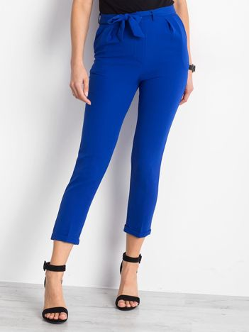 Kobaltowe spodnie Concealing