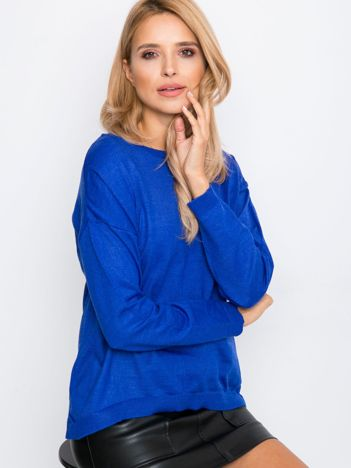 Kobaltowy sweter Omega