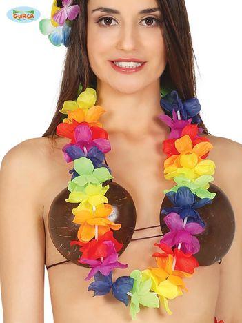 Kolorowy naszyjnik hawajski z kwiatów na imprezę