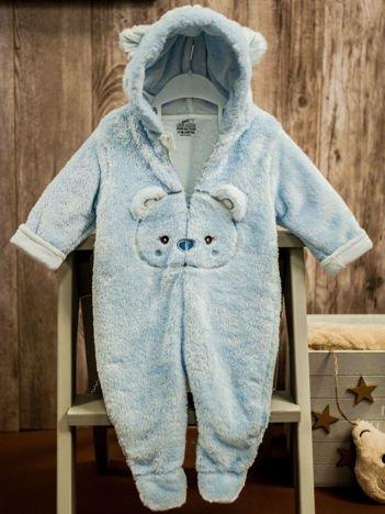 Kombinezon niemowlęcy miś niebieski