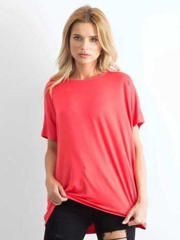 Koralowa bluzka Oversize