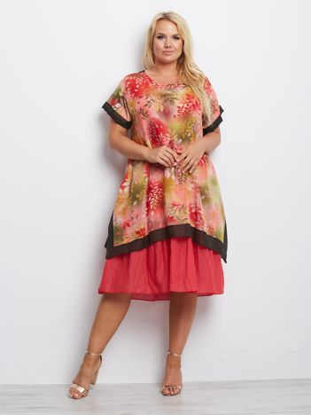 Koralowa sukienka plus size Missouri