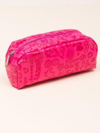 Kosmetyczka damska różowa o kształcie piórnika