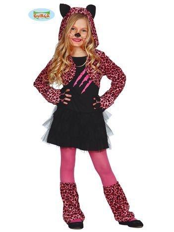 Kostium dla dziewczynki Różowy Gepard