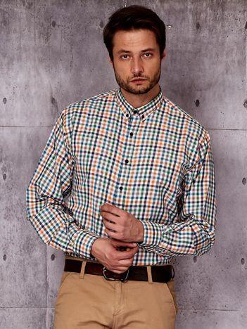 Koszula męska we wzór kolorowej kratki