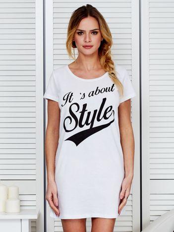 Koszula nocna bawełniana IT'S ABOUT STYLE biała