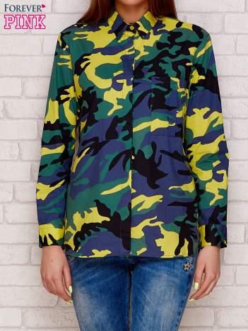 Koszula z motywem moro khaki