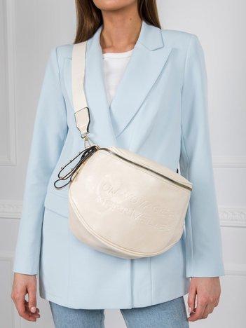 Kremowa torebka z suwakiem