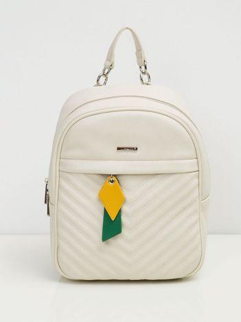 Kremowy mały plecak damski