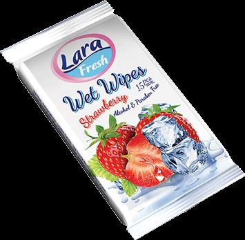 LARA Nawilżane chusteczki o zapachu owocowym 15 szt