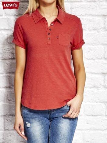 LEVIS Czerwona koszulka polo
