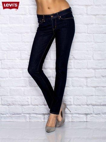 LEVIS Niebieskie jeansy o kroju slim
