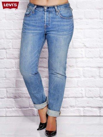 LEVIS Niebieskie spodnie jeansowe boyfit PLUS SIZE
