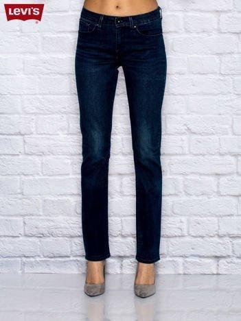 LEVIS Niebieskie spodnie jeansowe o klasycznym kroju