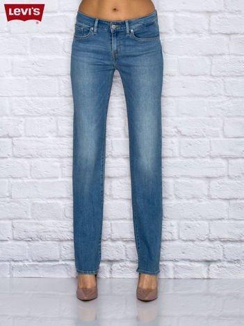 LEVIS Niebieskie spodnie jeansowe przecierane