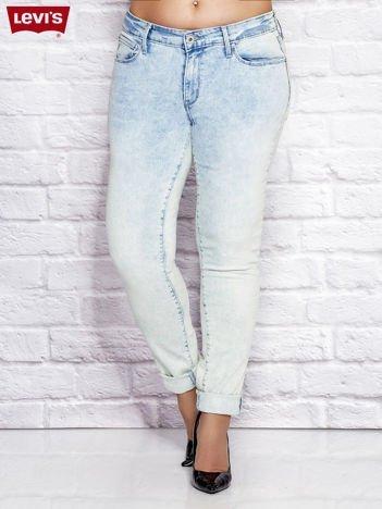 LEVIS Niebieskie spodnie jeansowe skinny z dekatyzacją PLUS SIZE