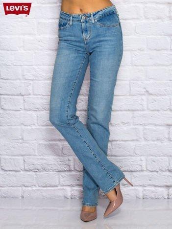 LEVIS Niebieskie spodnie jeansowe stright
