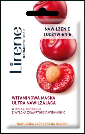 LIRENE Witaminowa maska ultranawilżająca z wiśnią z Barbados 8 ml
