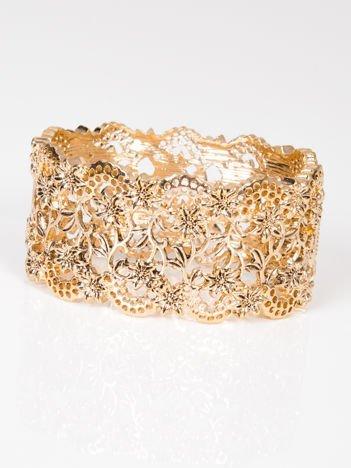 LOLITA Bransoletka złota ażurowa bogato zdobiona