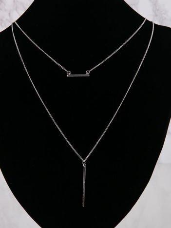 LOLITA Naszyjnik srebrny podwójny z ozdobami