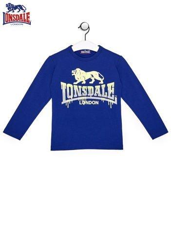 LONSDALE Niebieska bluzka chłopięca z nadrukiem