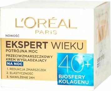 L'Oréal Age Specialist Ekspert Wieku 40+ przeciwzmarszczkowy krem wygładzający na noc 50 ml