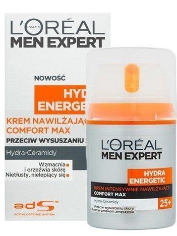 L'Oréal Men Expert Hydra Energetic COMFORT MAX krem intensywnie nawilżający 25+ 50 ml