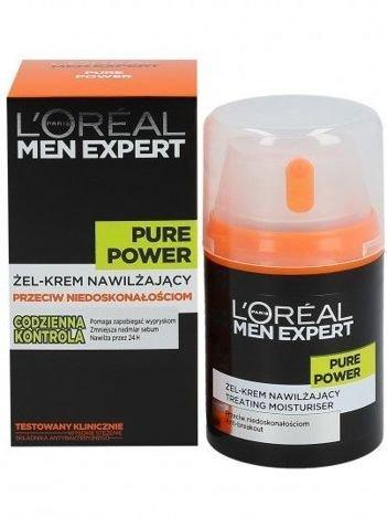 L'Oréal Men Expert Pure Power żel-krem nawilżający przeciw niedoskonałościom 50 ml