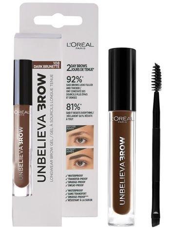 L'Oréal Unbelieva Brow Long Lasting Brow Gel żel do brwi 108 Dark Brunette