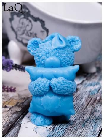 LaQ Mydełko Miś z poduszką - niebieski / Zapach - wata cukrowa BEZ SLS i SLES