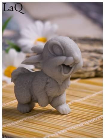 LaQ Mydełko Uśmiechnięty królik - szary / Zapach - wata cukrowa BEZ SLS i SLES
