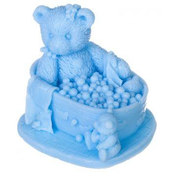 LaQ Mydełko błękitne Miś w kąpieli, bez SLS i SLES
