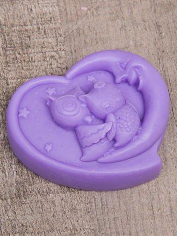LaQ Mydełko fioletowe Dwie zakochane sowy na księżycu bez SLS i SLES