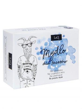 LaQ Mydło dla facetów z węglem aktywnym. Nie zawiera SLS, SLES i PEG-ów. 85 ml