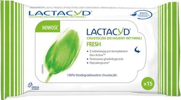 """Lactacyd Fresh Chusteczki do higieny intymnej  1op.- 15szt"""""""