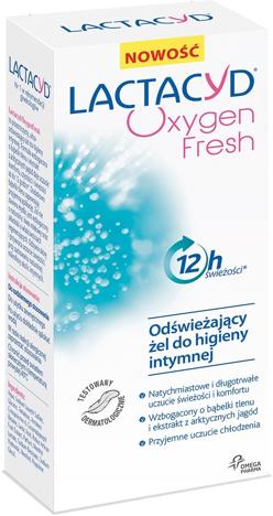 """Lactacyd Oxygen Fresh Odświeżający żel do higieny intymnej  200ml"""""""