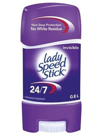 Lady Speed Stick Dezodorant w żelu 24/7 Invisible 65g