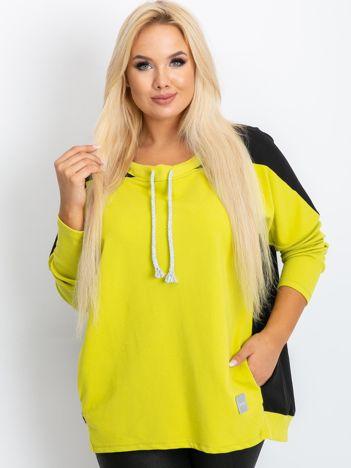 Limonkowa bluza plus size Elliot