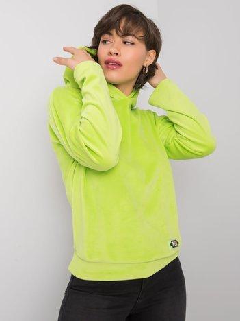 Limonkowa bluza welurowa Zavia RUE PARIS
