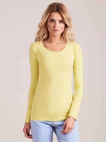 Limonkowa bluzka z długim rękawem