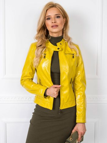 Limonkowa kurtka Jessy