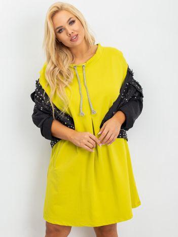 Limonkowa tunika plus size Alexa