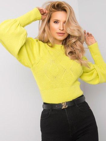 Limonkowy sweter Rosanna RUE PARIS
