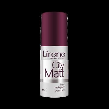 Lirene Fluid matująco-wygładzający City Matt - Piaskowy 205 30 ml