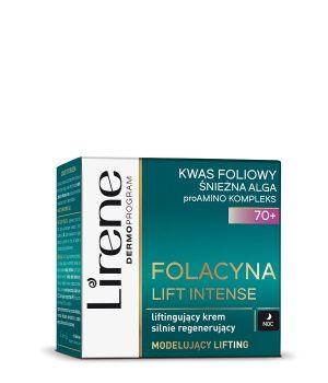 Lirene Folacyna Liftingujący krem silnie regenerujący na noc 70+ 50 ml