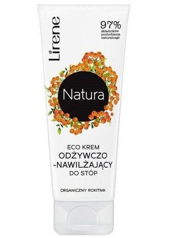 Lirene NATURA ECO Krem odżywczo-nawilżający do stóp organiczny rokitnik 75 ml