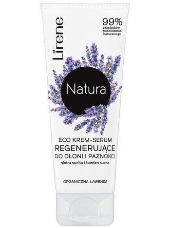 Lirene NATURA ECO Krem-serum regenerujące do dłoni i paznokci organiczna lawenda - skóra sucha i bardzo sucha 75 ml