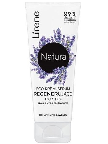 Lirene NATURA ECO Krem-serum regenerujące do stóp organiczna lawenda - skóra sucha i bardzo sucha 75 ml