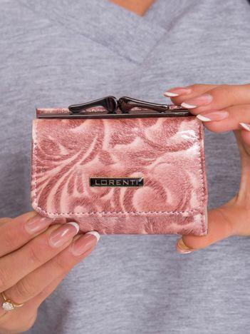 Łososiowy mały portfel skórzany