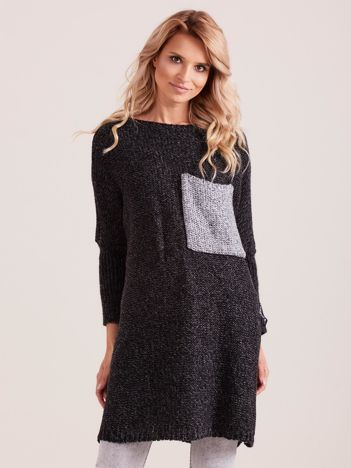 MAGPIE  Ciemnoszary sweter oversize